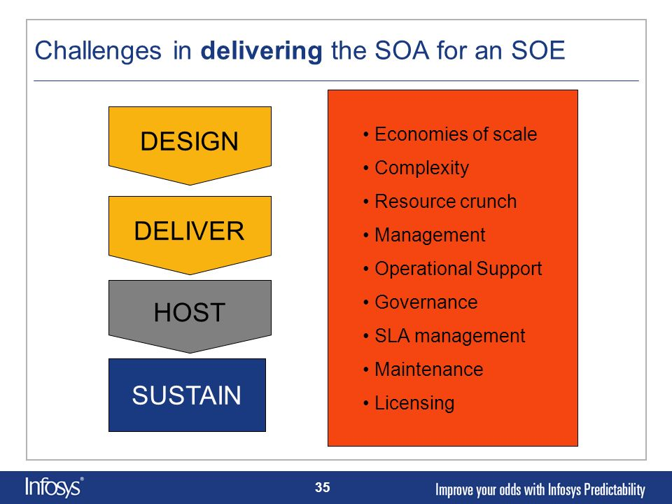 Challenges in delivering the SOA for an SOE