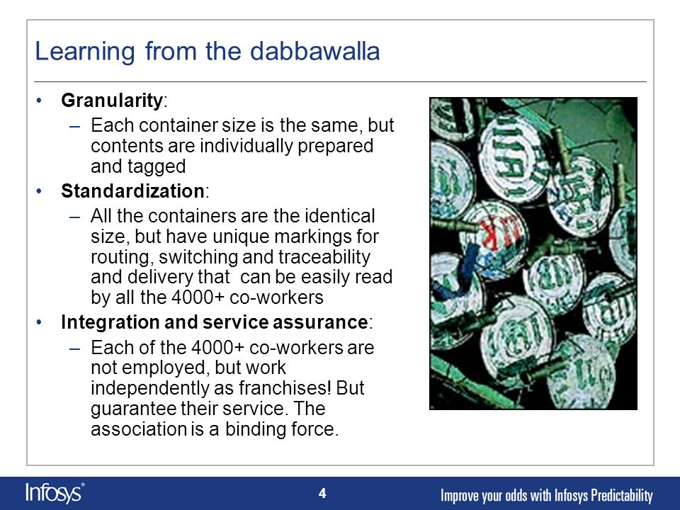 Learning from the dabbawalla