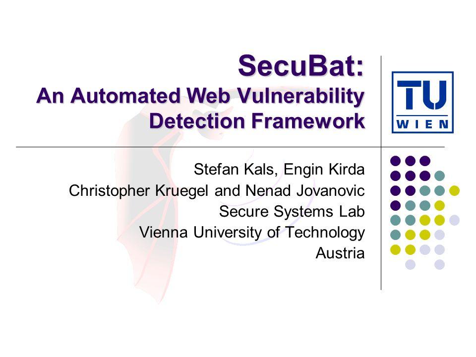 SecuBat: An Automated Web Vulnerability Detection Framework