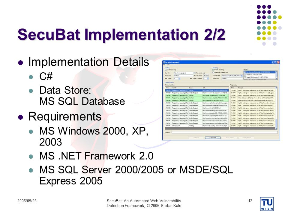 SecuBat Implementation 2/2
