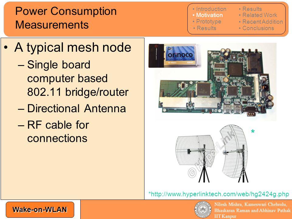 Power Consumption Measurements