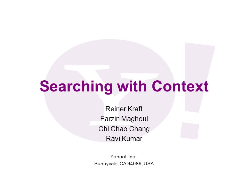 Searching with Context