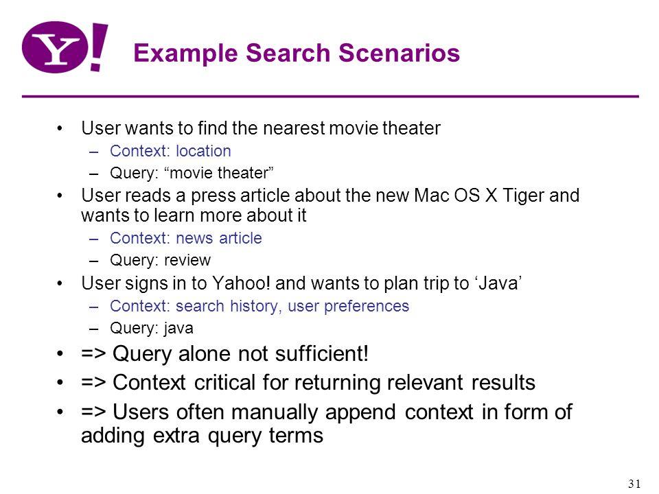Example Search Scenarios