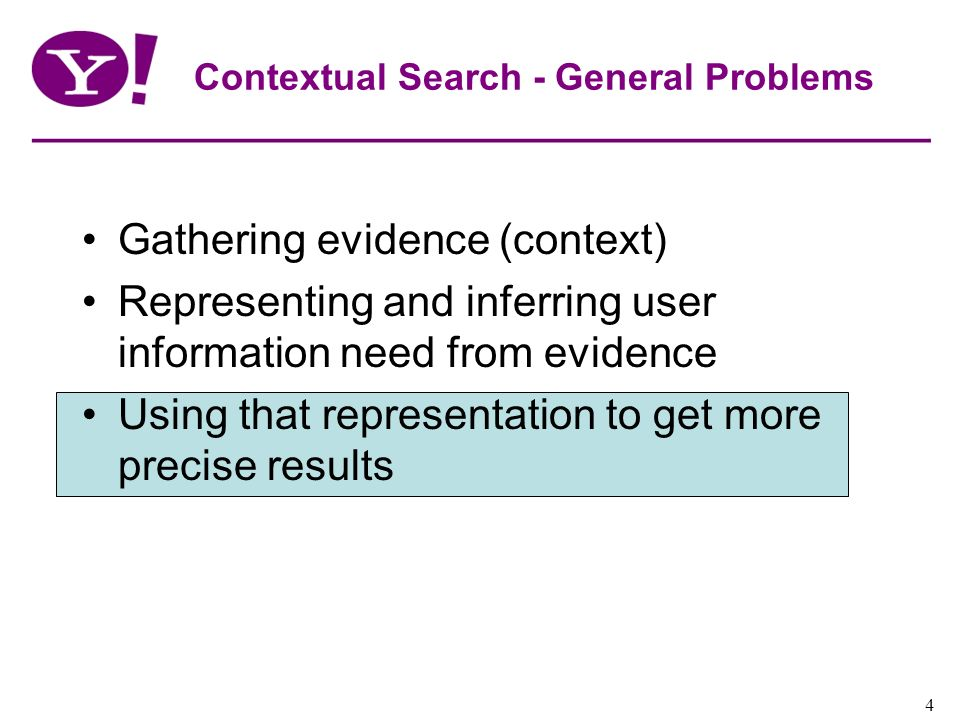 Contextual Search - General Problems