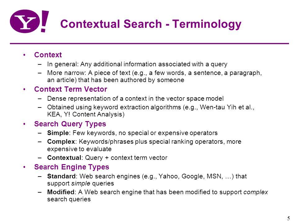 Contextual Search - Terminology
