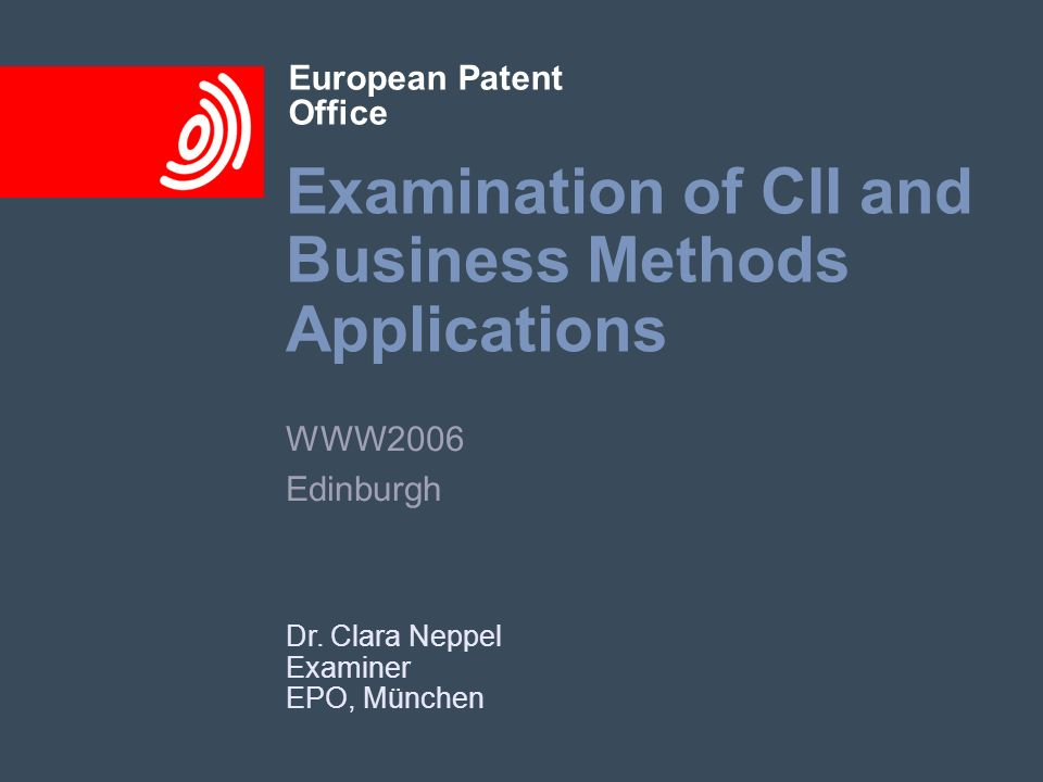 Examination of CII and Business Methods Applications