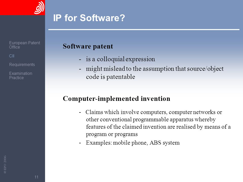 IP for Software Software patent Computer-implemented invention