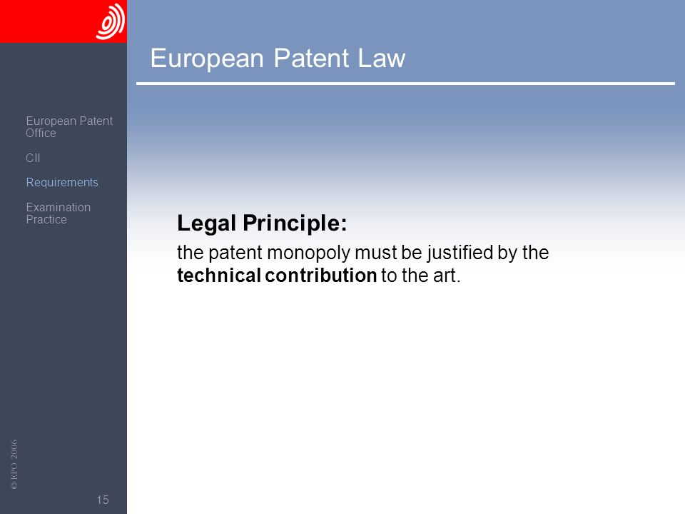 European Patent Law Legal Principle: