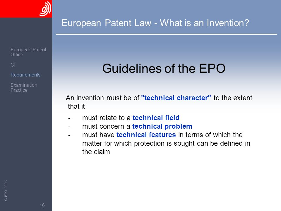 European Patent Law - What is an Invention