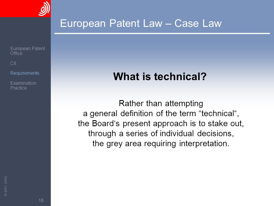 European Patent Law – Case Law