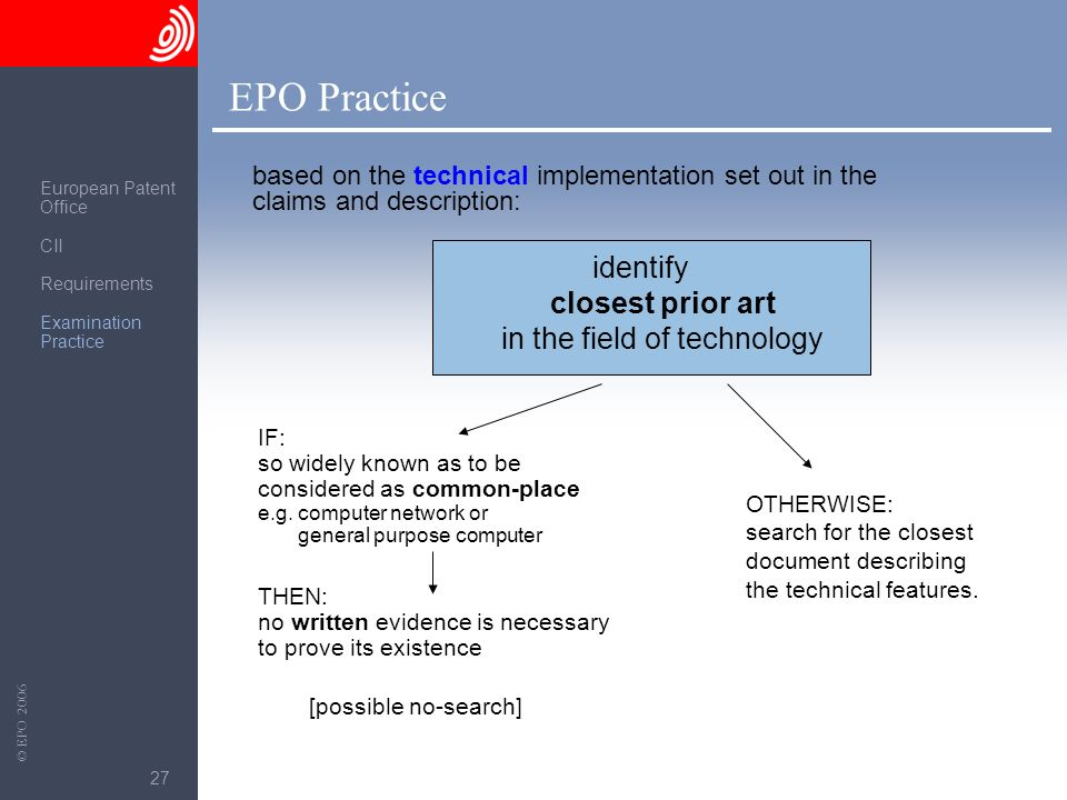 identify closest prior art in the field of technology