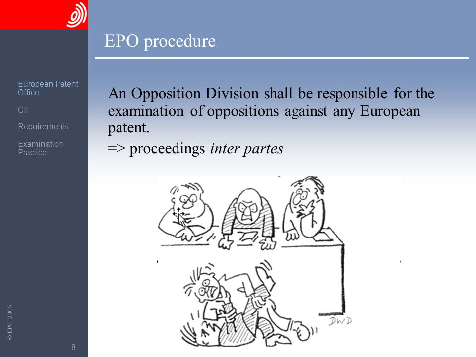 EPO procedure European Patent. Office. CII. Requirements. Examination Practice.