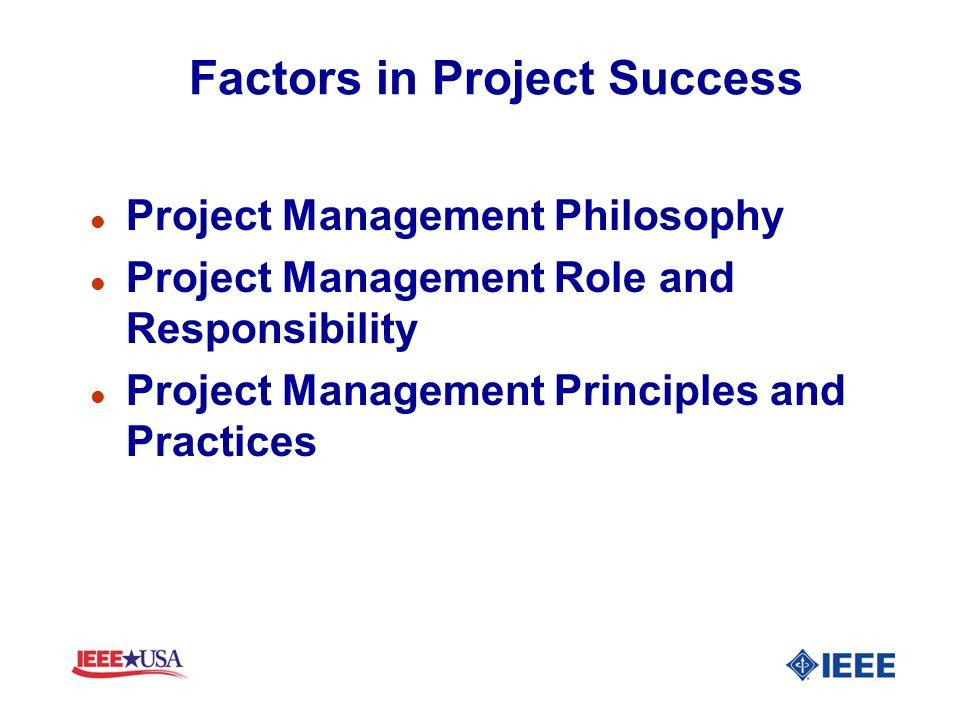 Factors in Project Success