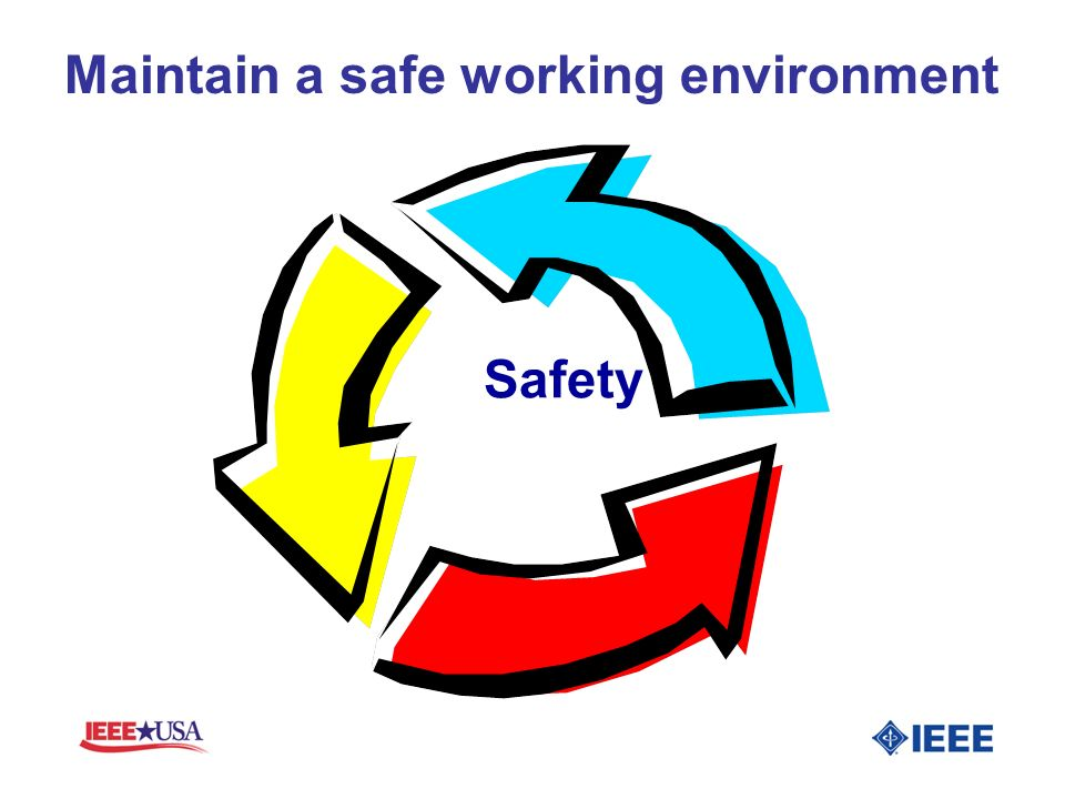 Maintain a safe working environment