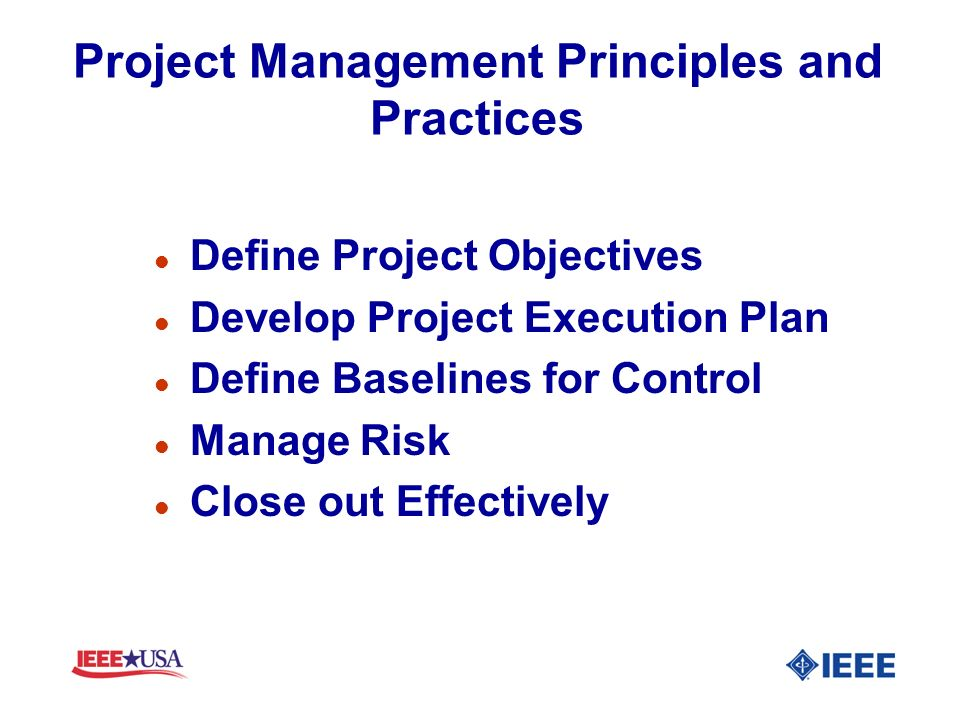 Project Management Principles and Practices