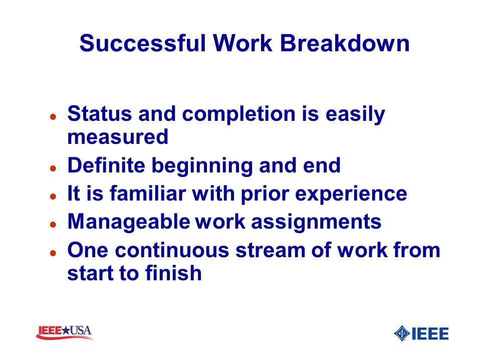 Successful Work Breakdown