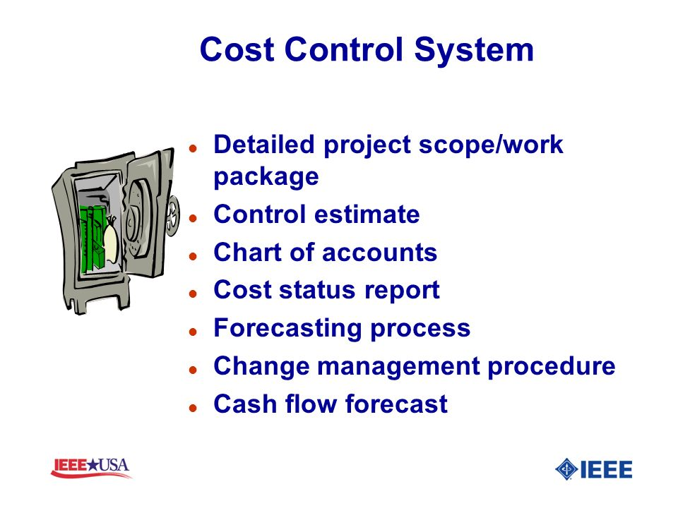 Cost Control System Detailed project scope/work package