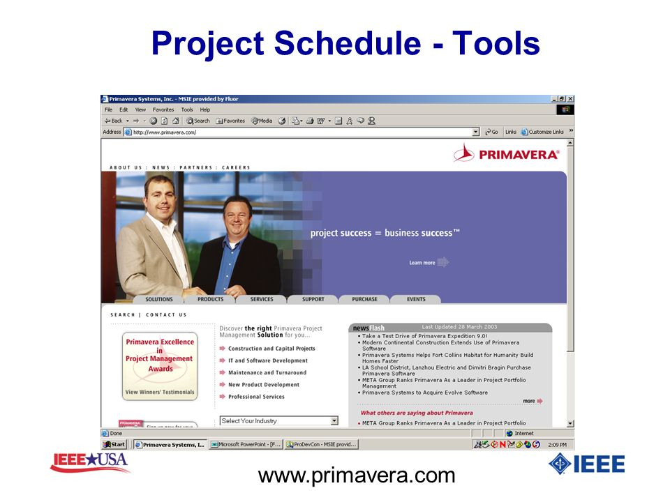Project Schedule - Tools
