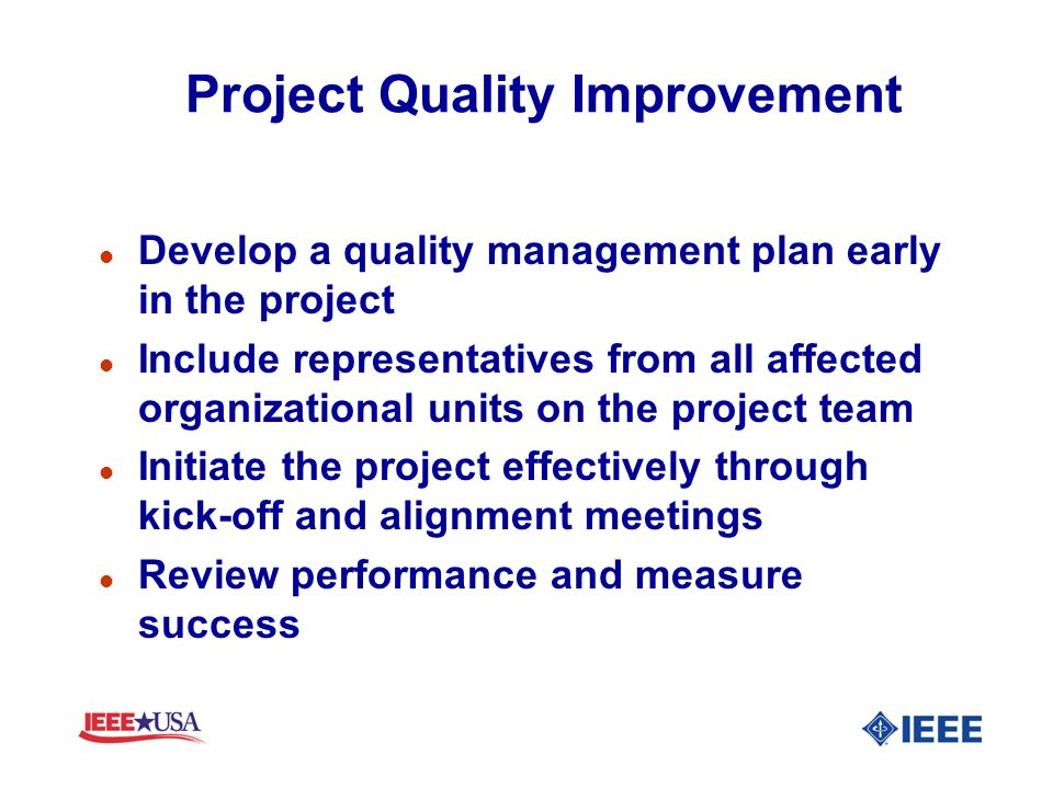 Project Quality Improvement