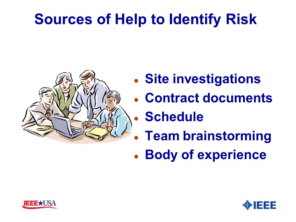 Sources of Help to Identify Risk