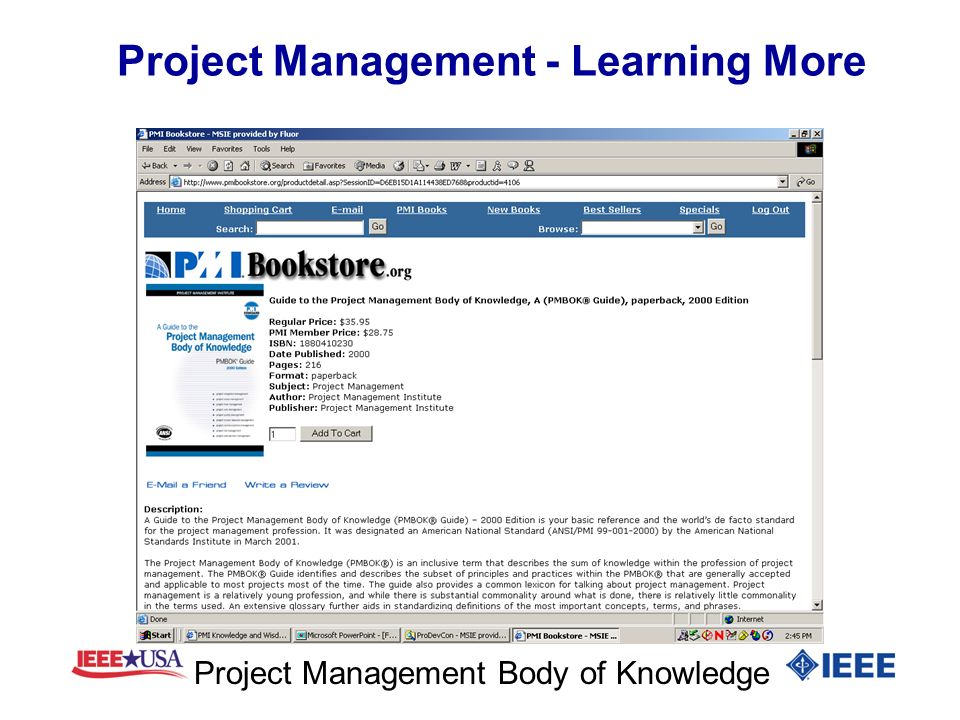 Project Management - Learning More