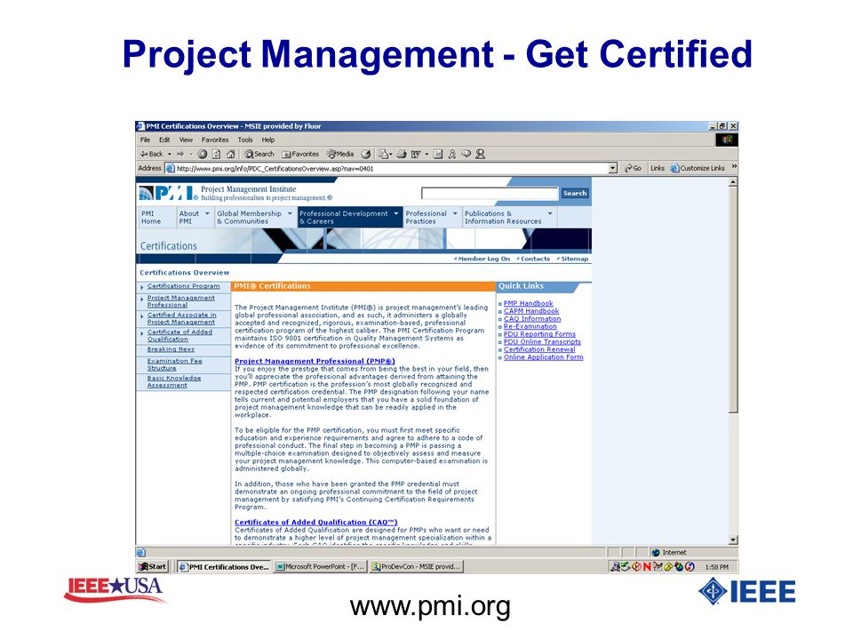 Project Management - Get Certified