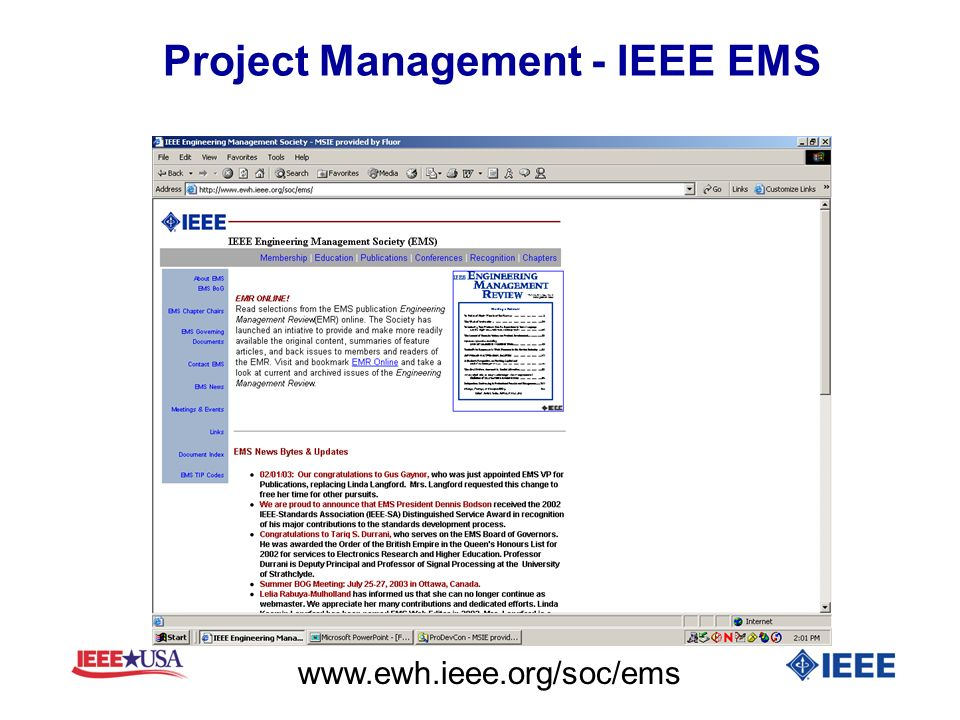 Project Management - IEEE EMS