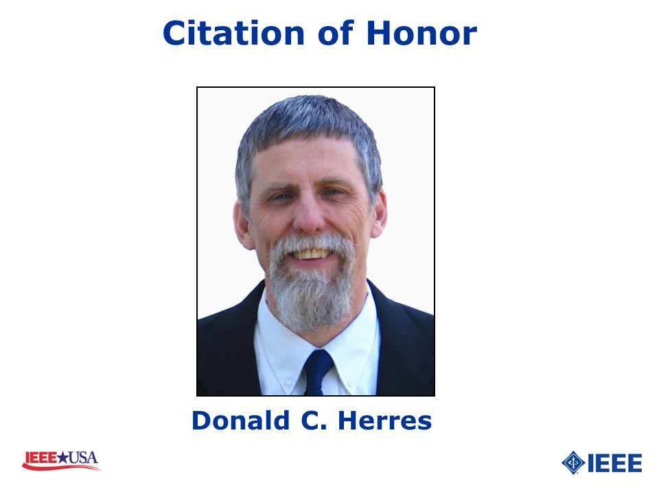 Citation of Honor Donald C. Herres