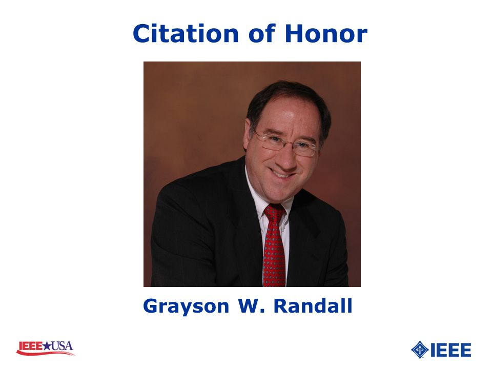 Citation of Honor Grayson W. Randall