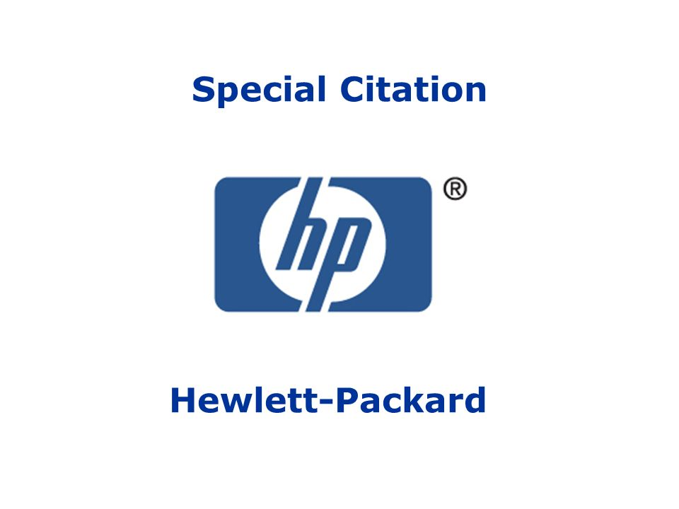 Special Citation Hewlett-Packard