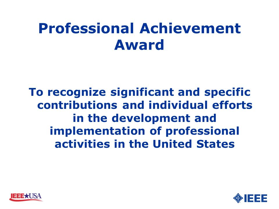 Professional Achievement Award