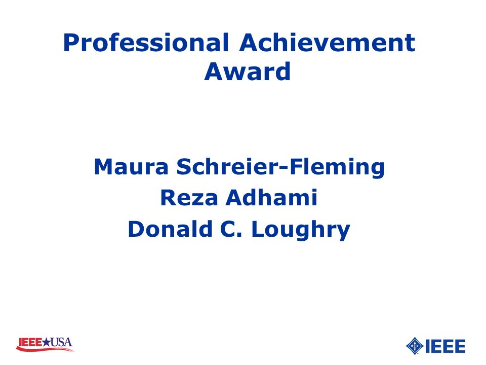 Professional Achievement Award Maura Schreier-Fleming