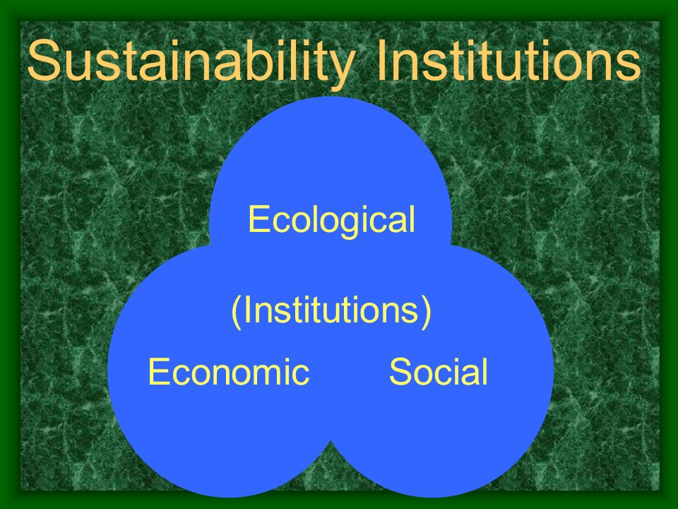 Sustainability Institutions