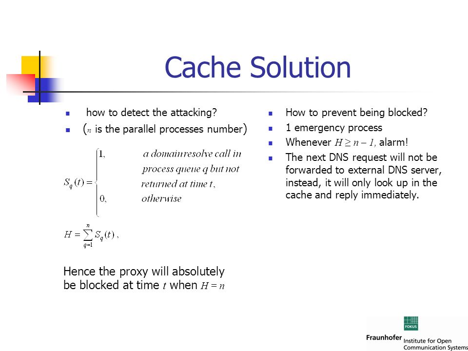 Cache Solution (n is the parallel processes number)