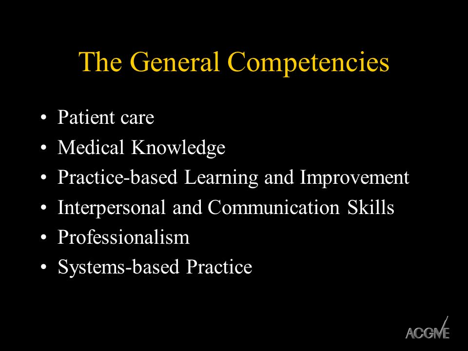 The General Competencies