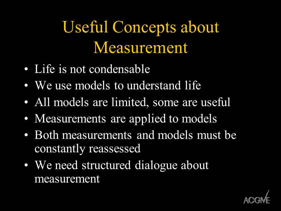 Useful Concepts about Measurement