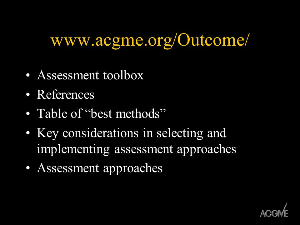 Assessment toolbox References