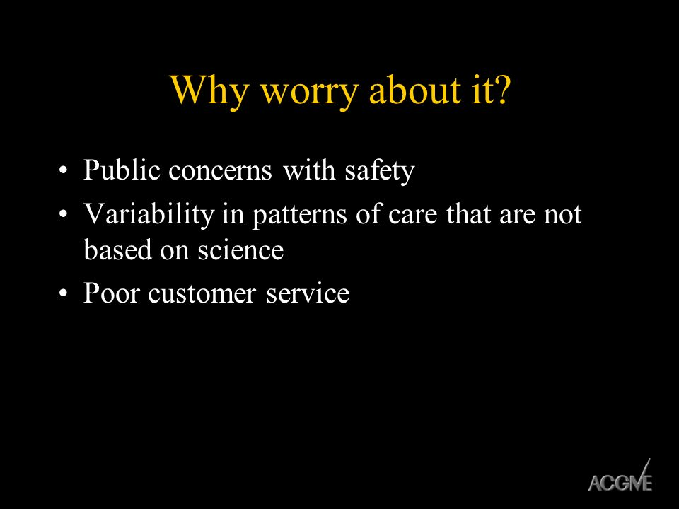 Why worry about it Public concerns with safety
