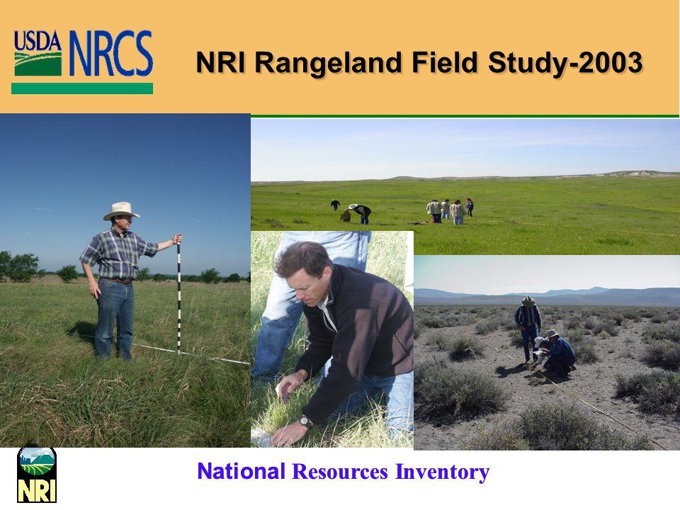 NRI Rangeland Field Study-2003