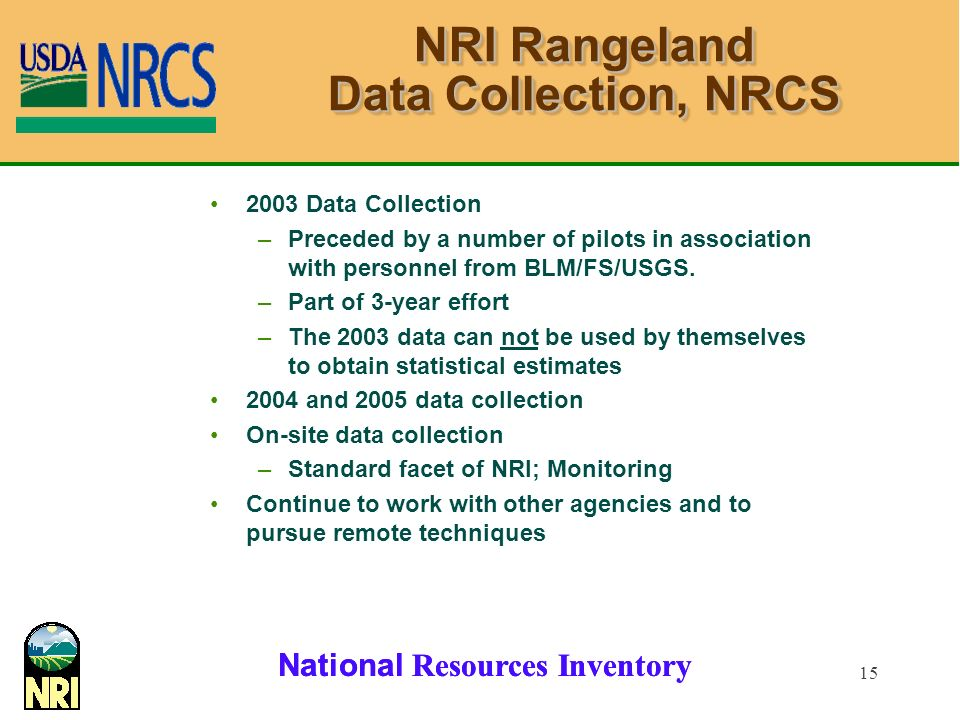 NRI Rangeland Data Collection, NRCS