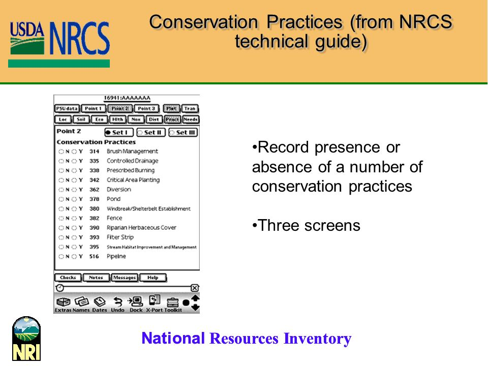 Conservation Practices (from NRCS technical guide)