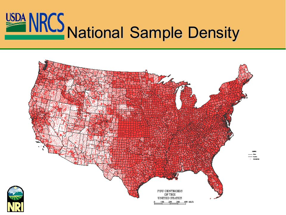 National Sample Density
