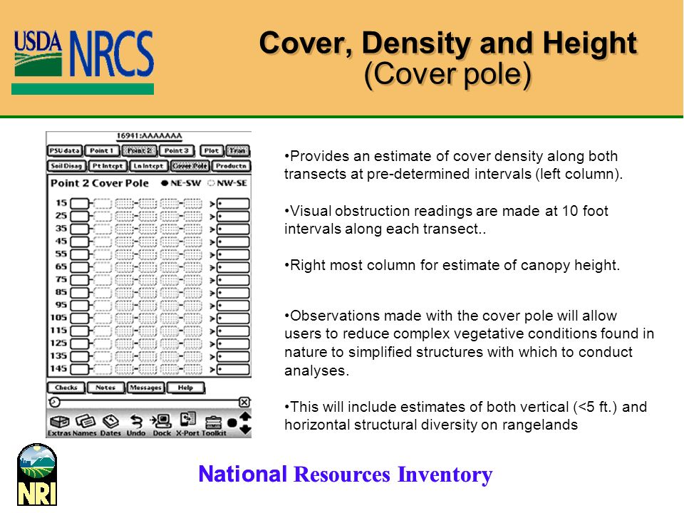 Cover, Density and Height (Cover pole)