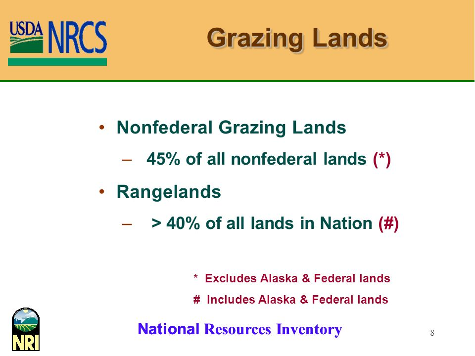 Grazing Lands Nonfederal Grazing Lands Rangelands