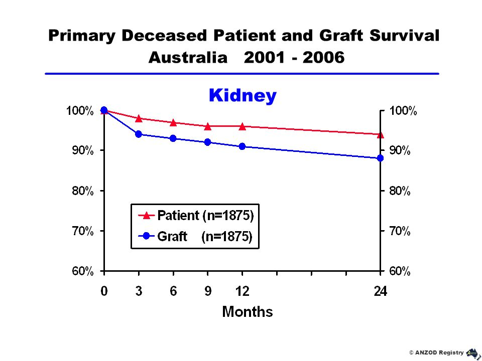 Primary Deceased Patient and Graft Survival Australia