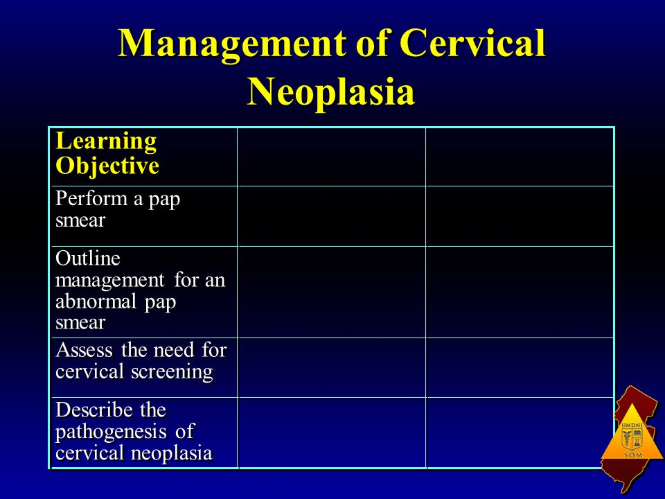 Management of Cervical Neoplasia