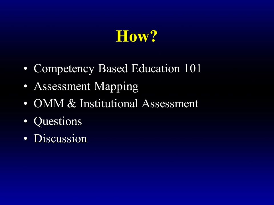 How Competency Based Education 101 Assessment Mapping