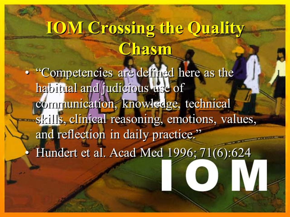 IOM Crossing the Quality Chasm