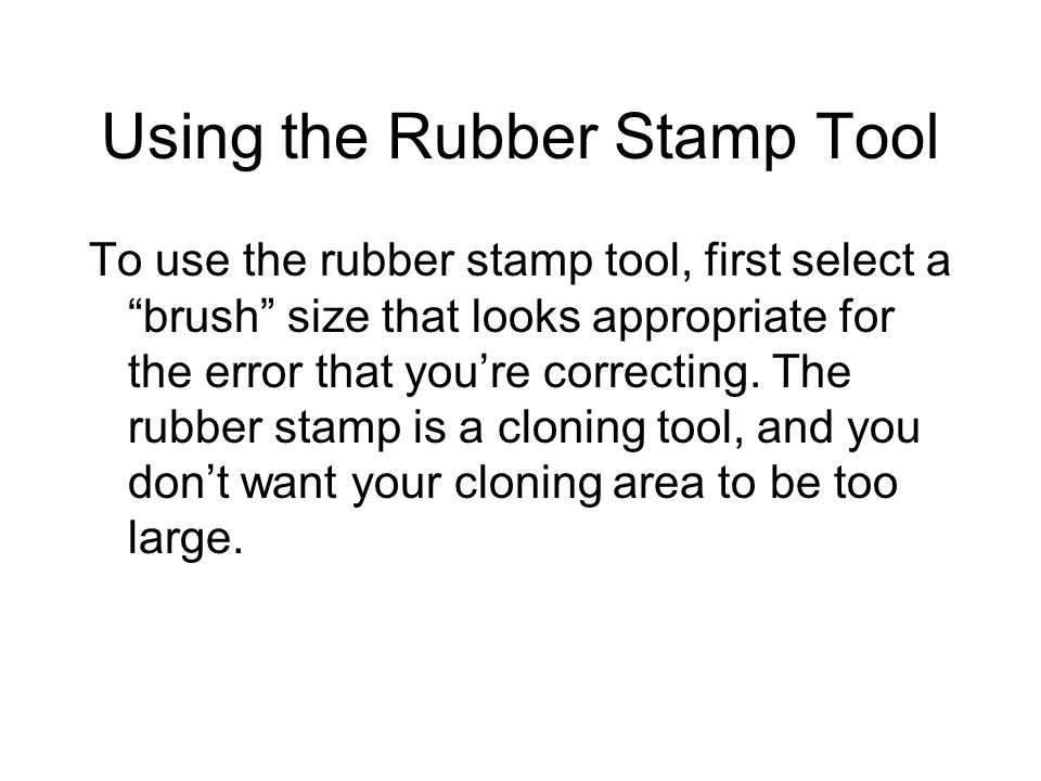 Using the Rubber Stamp Tool