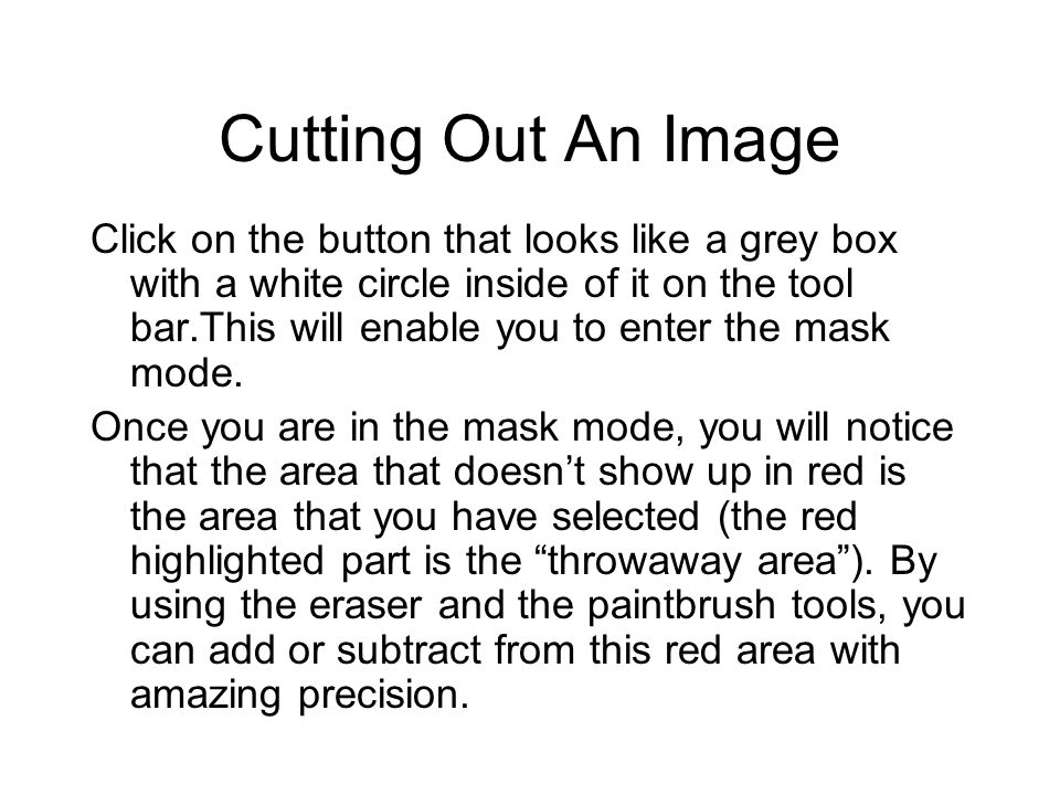 Cutting Out An Image